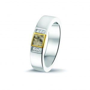 Assieraden ring zilver