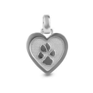 Gedenksieraad hart hondenpoot dier