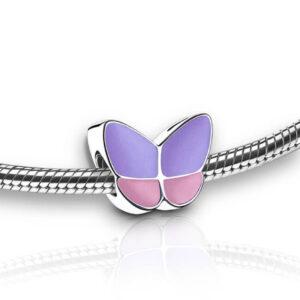 Asbedel paars roze vlinder