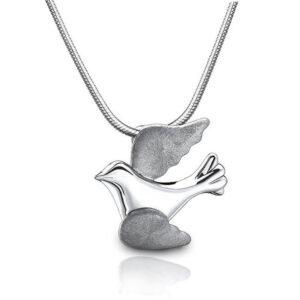 Ashanger vogel zilver