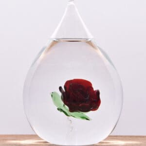 Glazen urn bloem