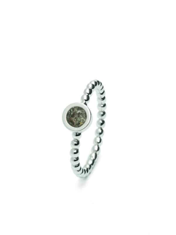 Assieraden ring rond zilver