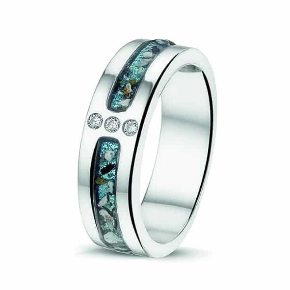 Assieraad ring zilver