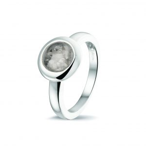 Assieraden ring zilver