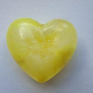 Urn mini urn hart geel
