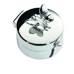 Mini urn zilver vlinder