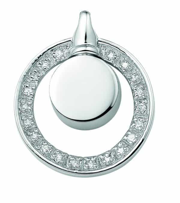 Assieraad hanger zilver