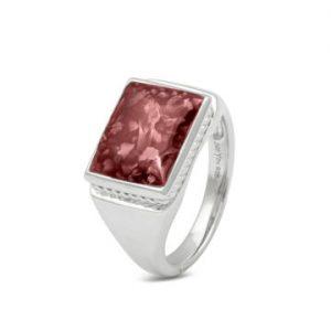 Assieraad zilver ring