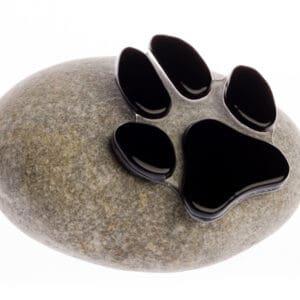 Dierenurn hondenpoot glas