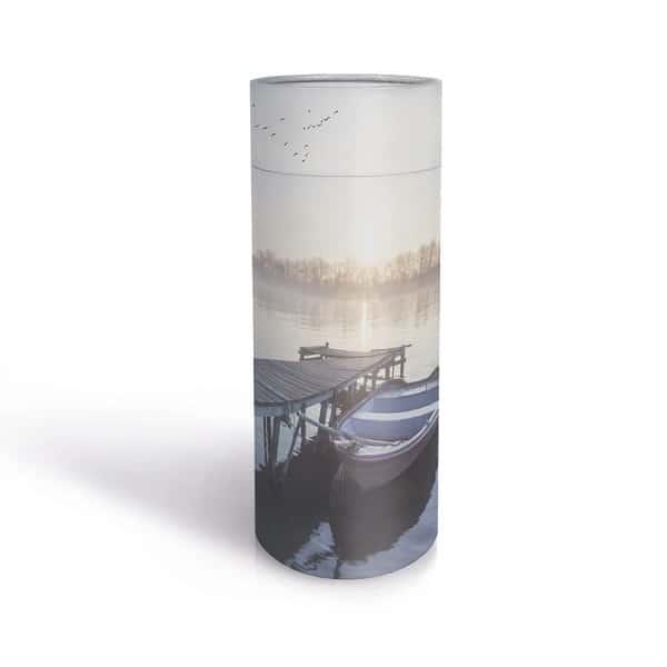 Urn stooikoker steiger water crematie as