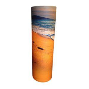 Urn strooikoker strand crematie as