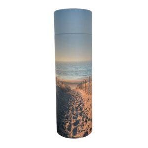 Urn strooikoker zee crematie as