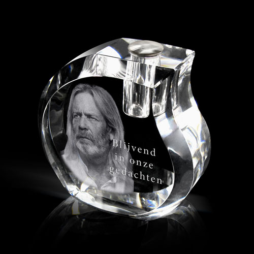 Urn kristalglas foto in glas