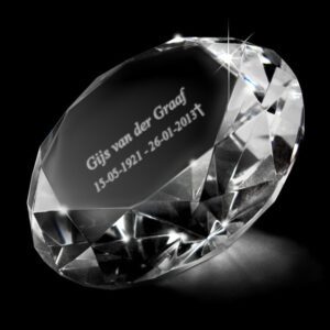 diamant foto in glas