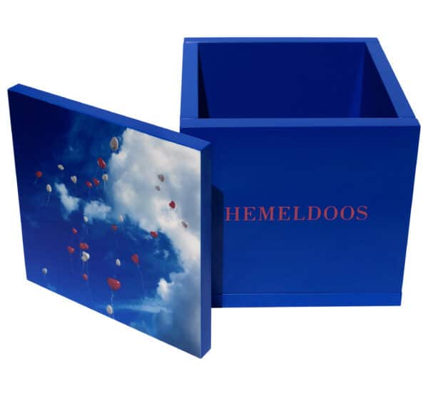 Hemeldoos blauw gedenken