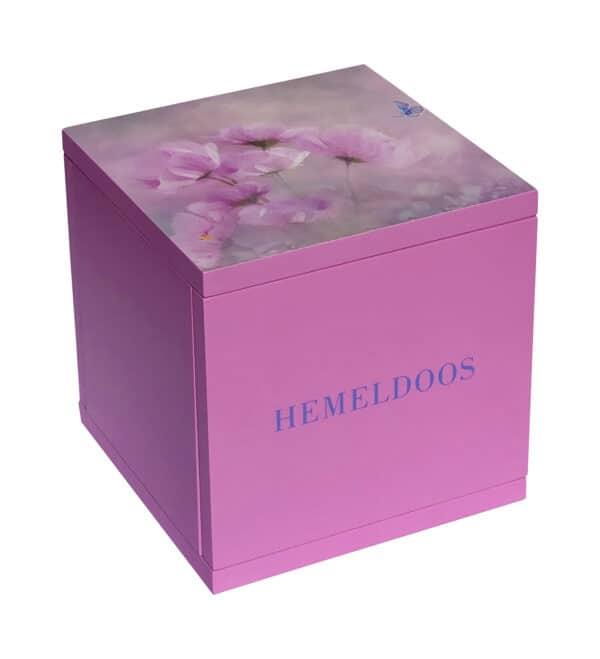 Hemeldoos roze bloemen