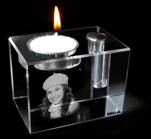 Foto in glas urn