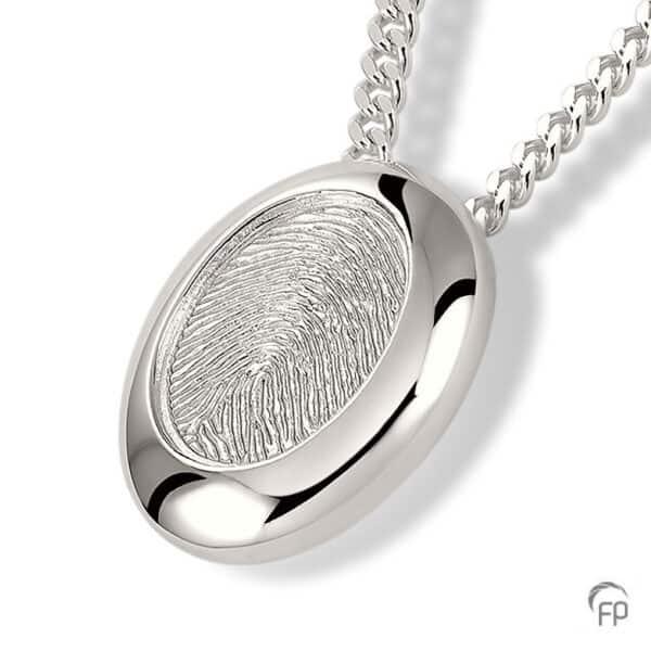 Assieraad zilver vingerafdruksieraad