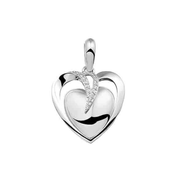 Assieraad hanger zilver hart