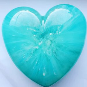 Urn big heart blauw