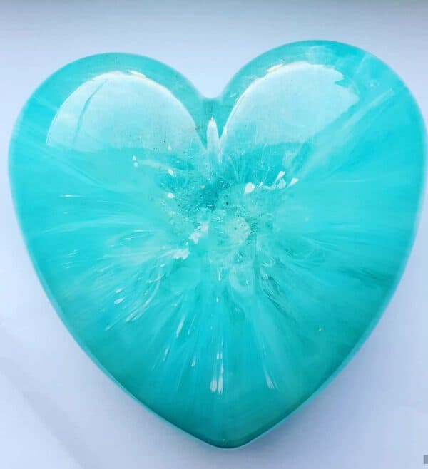 Urn big heart blauw