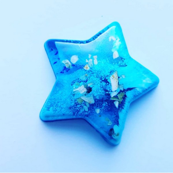 Urn star blauw