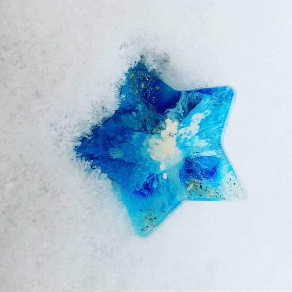 Urn ster blauw