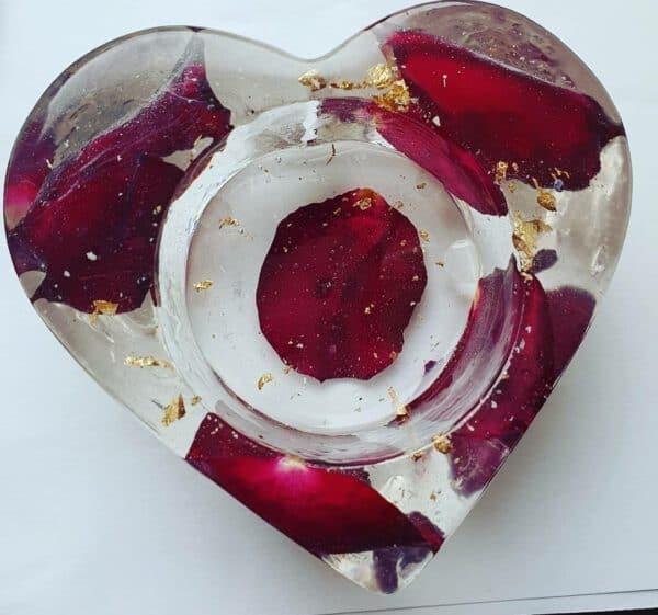 Urn hart waxinelicht