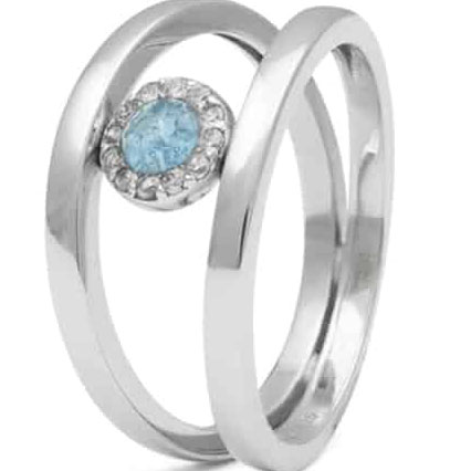 RG015 Zilveren ring seeyou