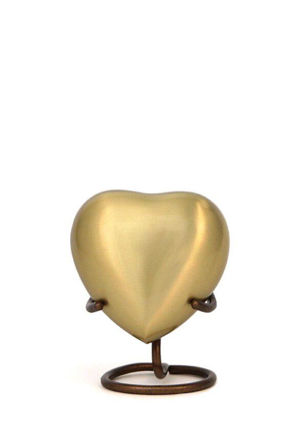Mini urn hart goud