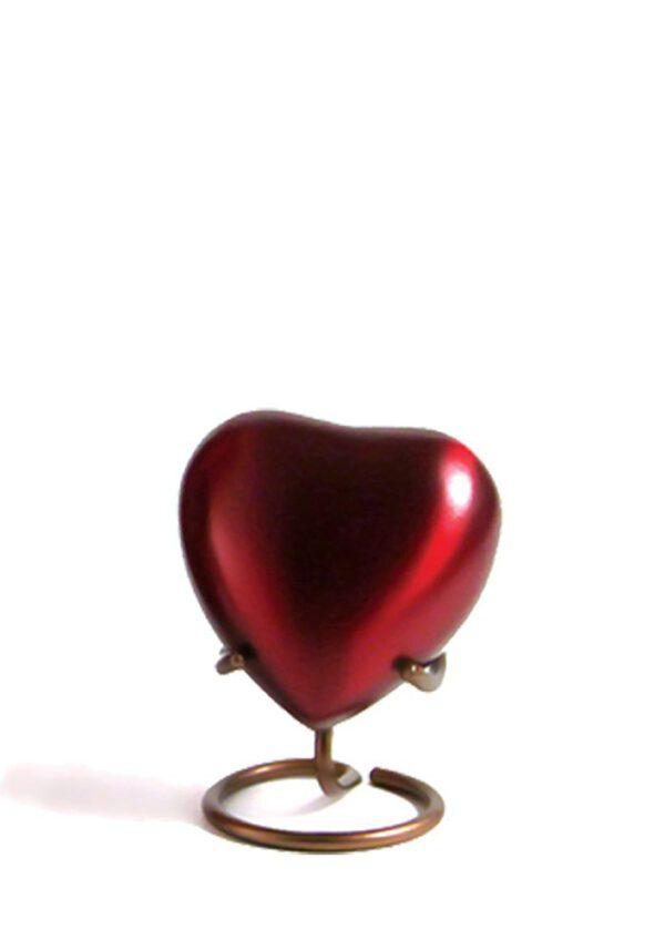Mini urn hart rood