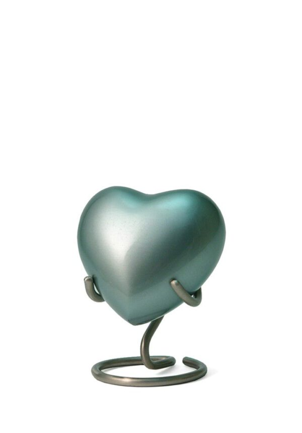 Mini hart urn groen