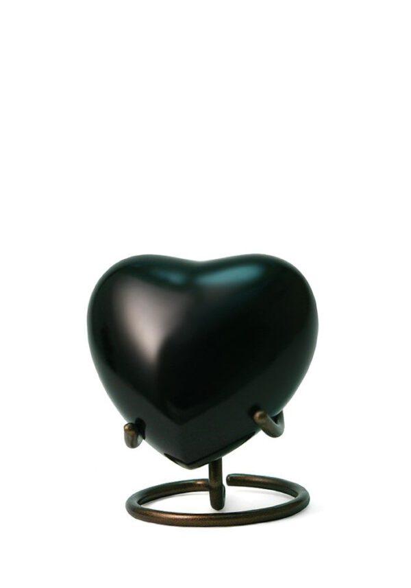 Mini hart urn zwart