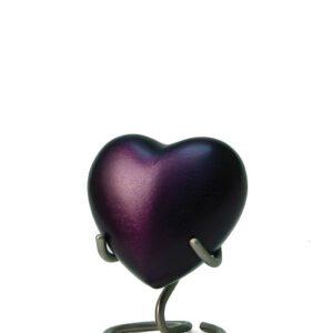 Mini urn hart paars