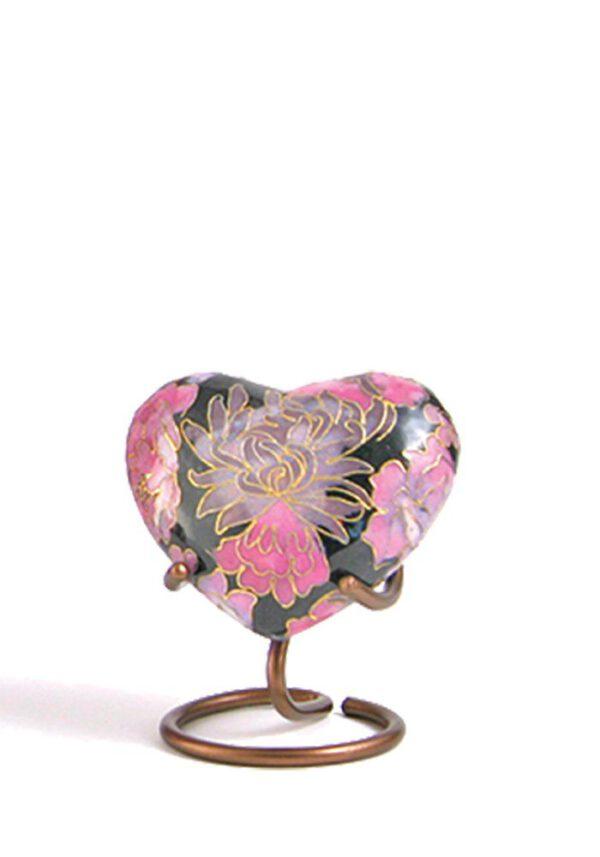Mini urn hart bloemen