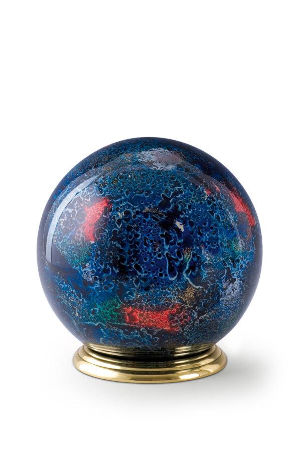 Glazen urn rond dierenurn