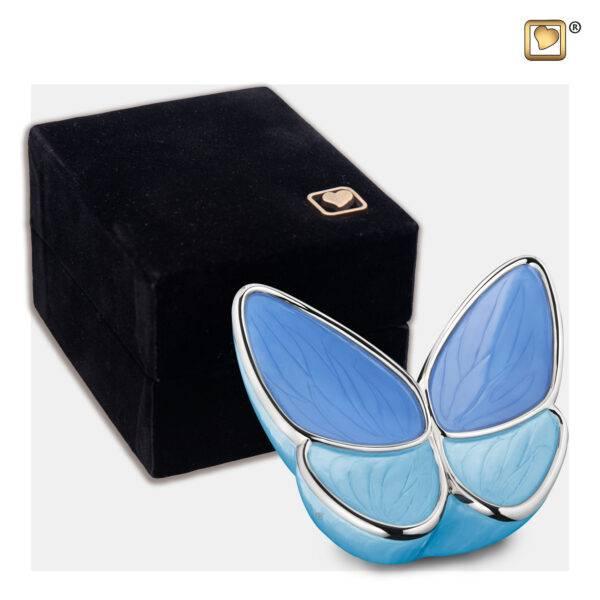 K1041 Wings of hope mini vlinder urn blauw