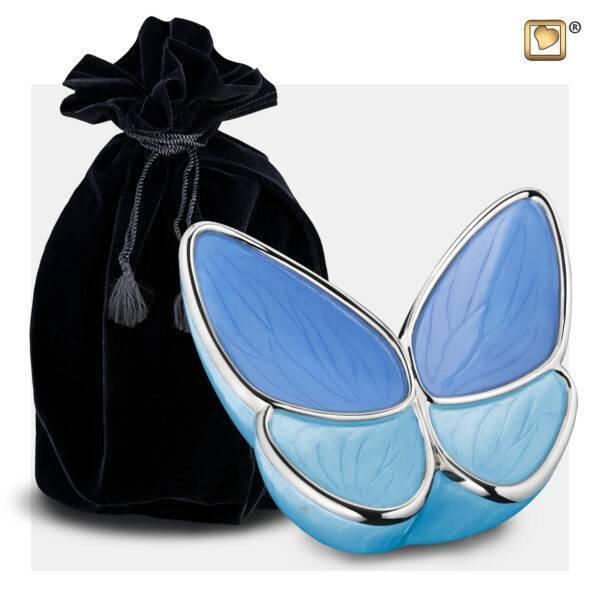 M1041 Wings of hope vlinder urn blauw