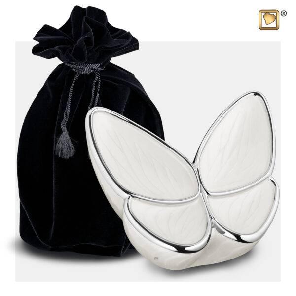 M1042 wings of hope vlinder urn wit