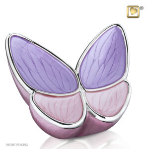 Urn vlinder roze paars