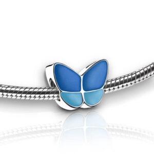 Asbedel blauw vlinder