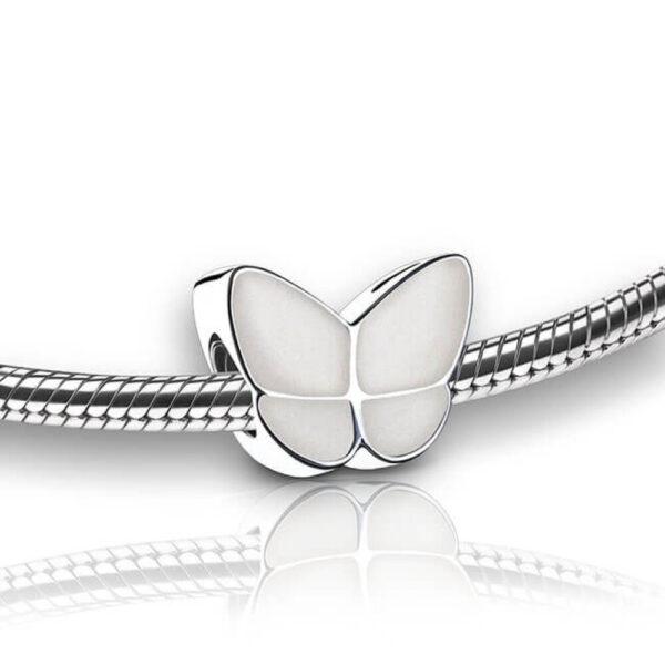 Asbedel vlinder wit vlinderkindje