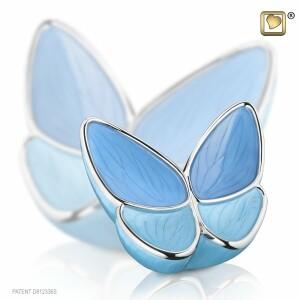 Urn vlinder blauw