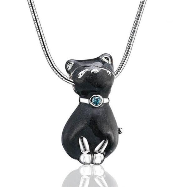 Ashanger kat zwart