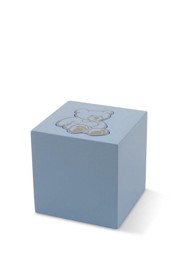 Urn blokje blauw beer