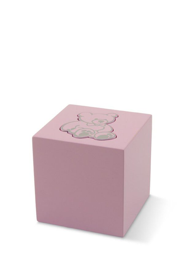 Urn blok roze beer