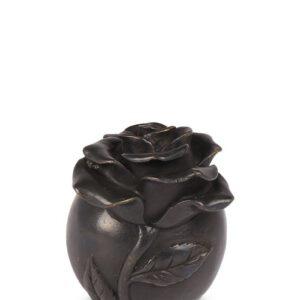 Bronzen urn roos