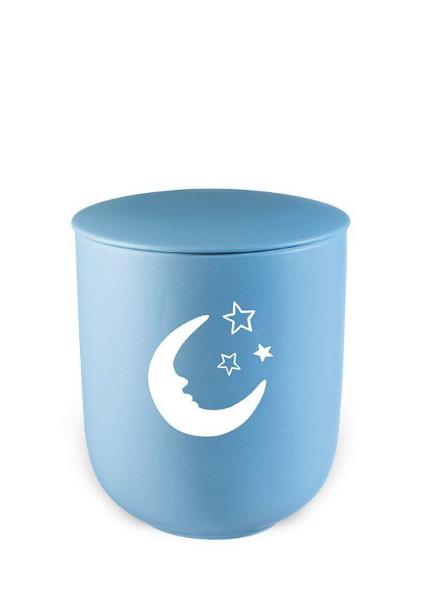 Urn kind blauw maan sterren