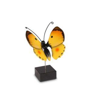 Vlinderurn hout geel