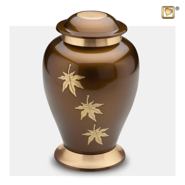 A241 Classic Falling Leaves Adult Urn Loveurns